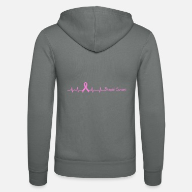 Breast Cancer Awareness Heartbeat Breast Cancer Awareness Heart Rate - Unisex Zip Hoodie