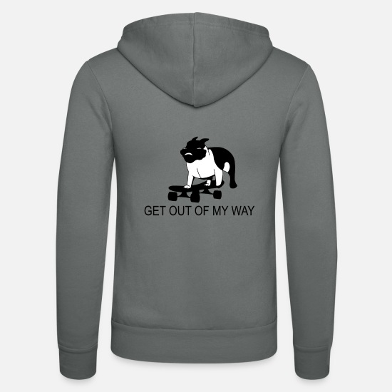 Love Hoodies & Sweatshirts - Get out of my way - Racing Dog - Unisex Zip Hoodie grey