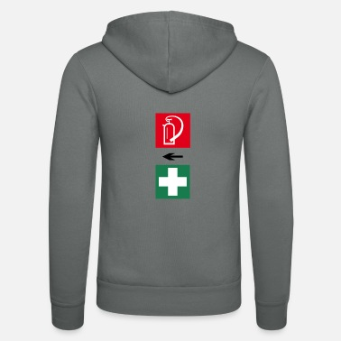 First Aid Fire and First Aid - Unisex Zip Hoodie