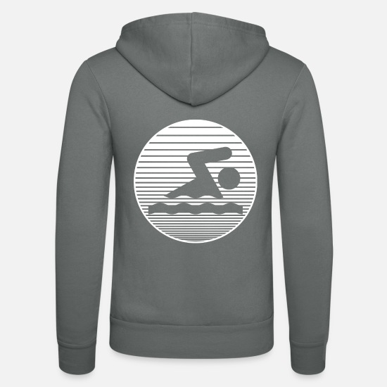 Swimming Instructor Hoodies & Sweatshirts - swim - Unisex Zip Hoodie grey