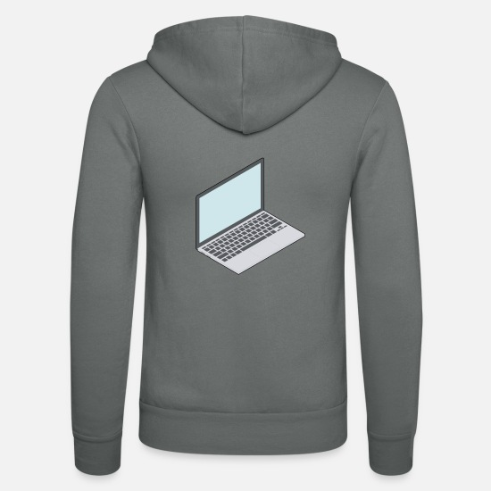 Game Hoodies & Sweatshirts - Laptop - Unisex Zip Hoodie grey