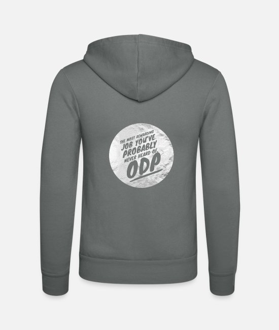 Operating Department Practice Hoodies & Sweatshirts - Rewarding job - Unisex Zip Hoodie grey