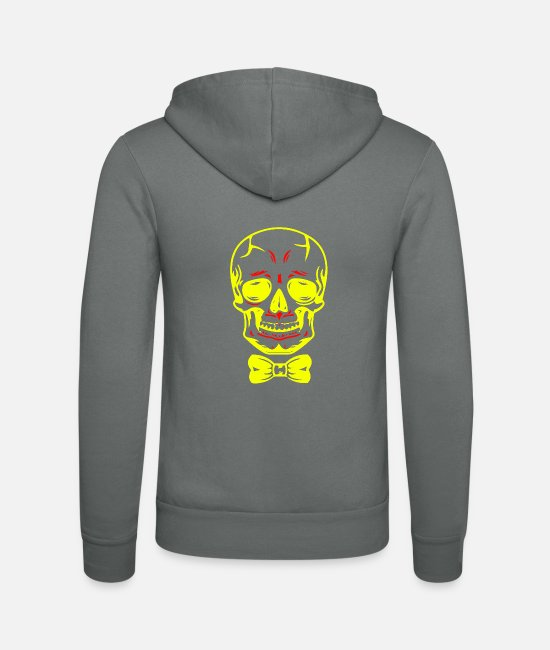Skull And Crossbones Hoodies & Sweatshirts - Skull Shirt Skull Skull - Unisex Zip Hoodie grey