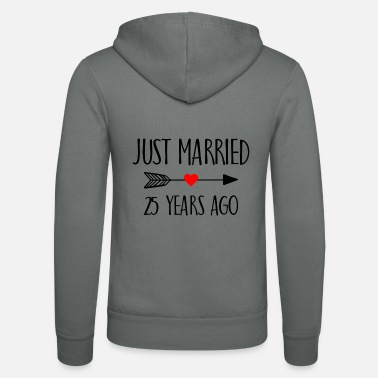 Junggesellenabschied Just Married 25 Years ago Married Geschenk - Unisex Kapuzenjacke