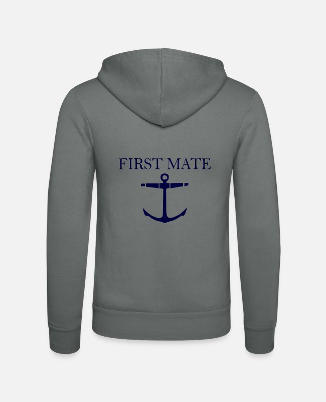 Mateo Hoodies & Sweatshirts - First Mate - Unisex Zip Hoodie grey