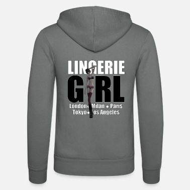 Trend Underwear The Fashionable Woman - Lingerie Girl - Unisex Zip Hoodie