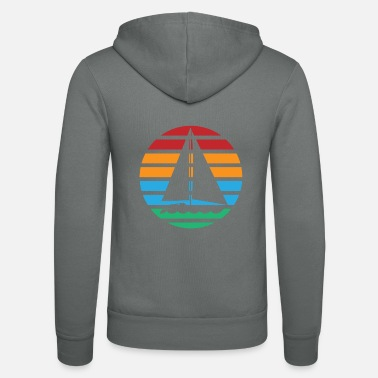 Christmas Present Sailboat boat sailing vintage retro gift - Unisex Zip Hoodie