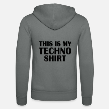 Drugs This is my Techno Shirt Rave Festival - Unisex Zip Hoodie