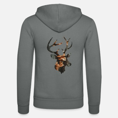 Funges Deer and Mushroom - Unisex Zip Hoodie