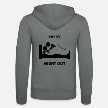 Guys Night Out Funny Night Out - Unisex Zip Hoodie