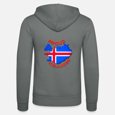 Curve Proud To Be From Iceland - Unisex Zip Hoodie