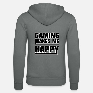 Online Gaming makes me happy - Unisex Zip Hoodie