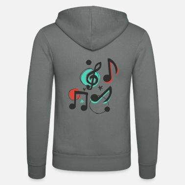 Music musical notes - Unisex Zip Hoodie