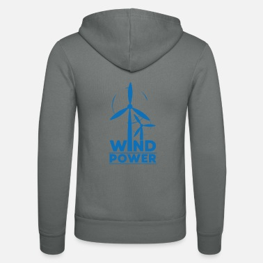 Global Wind power environmental protection gift environment - Unisex Zip Hoodie