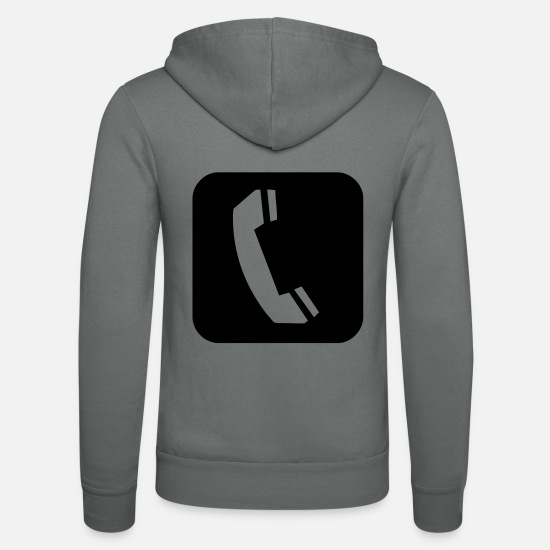 Call Hoodies & Sweatshirts - Cell Phone - Unisex Zip Hoodie grey
