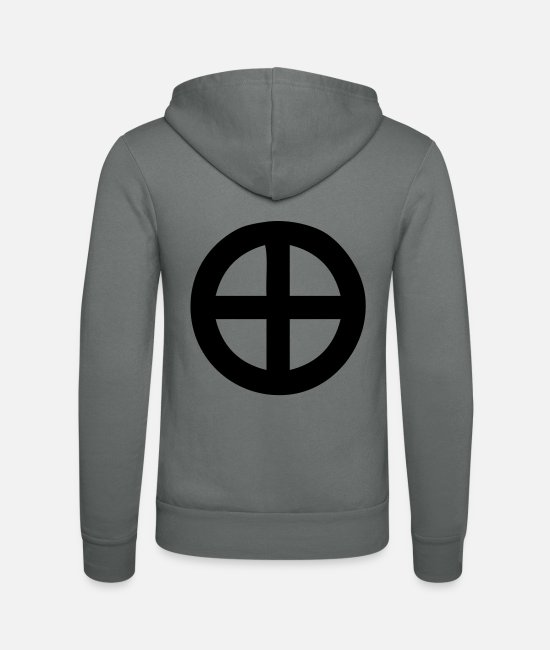 Circle Hoodies & Sweatshirts - Cross - Unisex Zip Hoodie grey