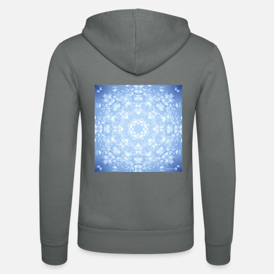 Sentiment Sweat-shirts - Sentiments de Mandala - Veste à capuche unisexe gris