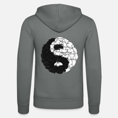 yin yang sheep - Unisex Hooded Jacket by Bella + Canvas