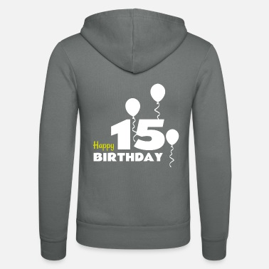 Happy Birthday HAPPY BIRTHDAY OS 15 - Unisex hættejakke