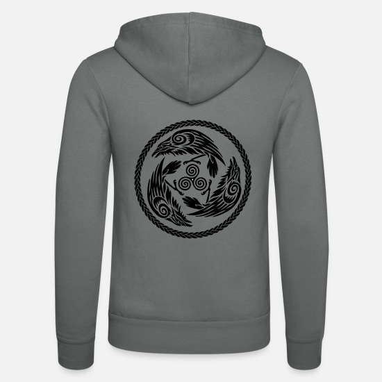Goddess Hoodies & Sweatshirts - Morrigan - Unisex Zip Hoodie grey