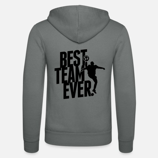Hand Sweat-shirts - Best team ever - Veste à capuche unisexe gris