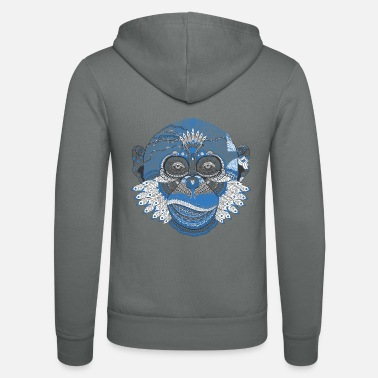 Abstract Monkey - Abstract - Unisex hoodie van Bella + Canvas