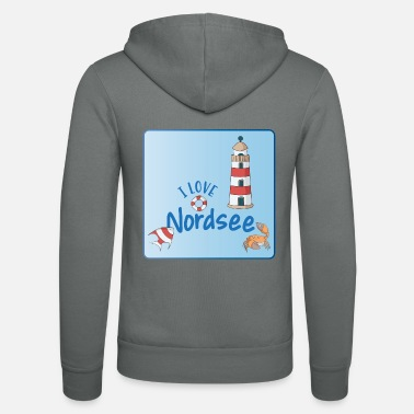 North Sea North Sea - Unisex Hooded Jacket by Bella + Canvas