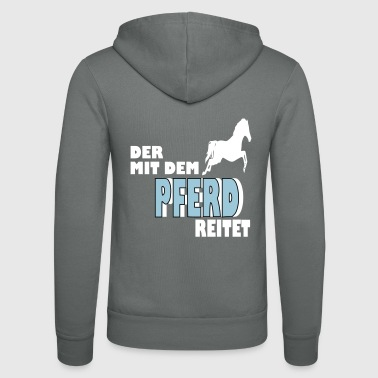 horse riding club stallion gift - Unisex Hooded Jacket by Bella + Canvas