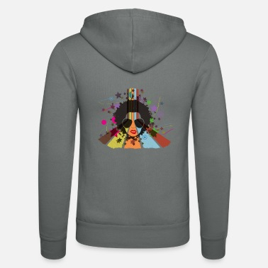 Retro Afro 80s | create your own T-shirts - Unisex Zip Hoodie