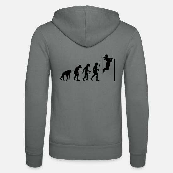 Up Hoodies & Sweatshirts - Evolution Pull Up - Unisex Zip Hoodie grey