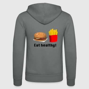 Fast food - Bluza z kapturem Bella + Canvas typu unisex