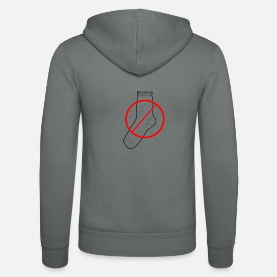 Red Hoodies & Sweatshirts - Socks prohibited - Unisex Zip Hoodie grey