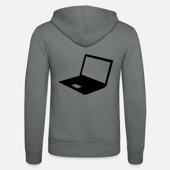 Office Hoodies & Sweatshirts - Computer - Unisex Zip Hoodie grey