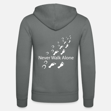 Never Never walk alone shirt · Horse owner · Gift - Unisex Zip Hoodie