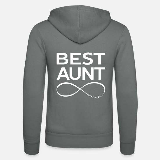 Aunt Hoodies & Sweatshirts - BEST AUNT EVER - Unisex Zip Hoodie grey