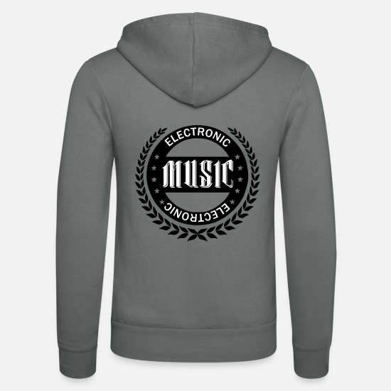Music Is Life Sweat-shirts - Musique électronique - Veste à capuche unisexe gris