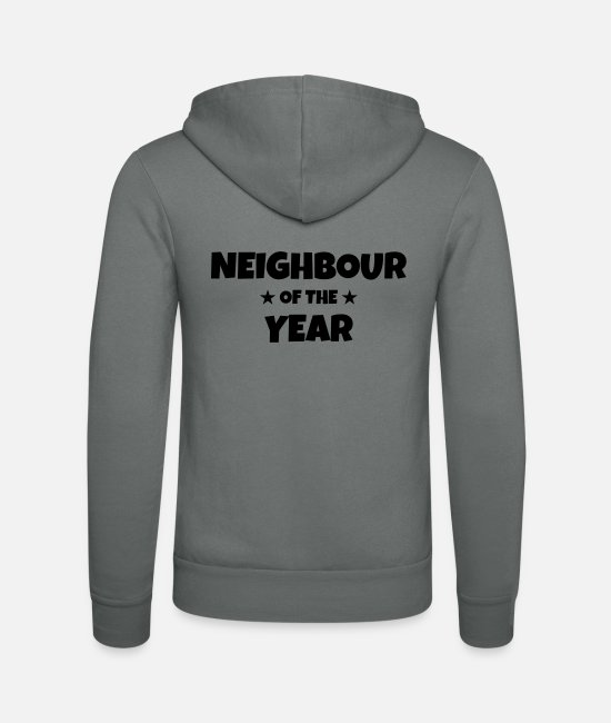 Alcohol Hoodies & Sweatshirts - Neighbour Neighborhood Nachbar Voisin Fête Party - Unisex Zip Hoodie grey