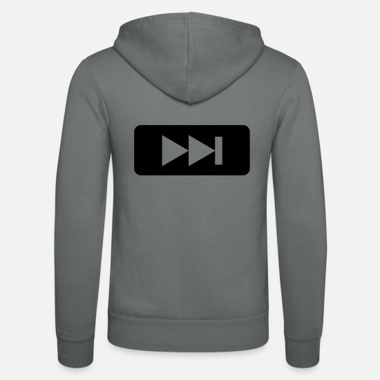Play Hoodies & Sweatshirts - Music,DJ,Forward,DVD - Unisex Zip Hoodie grey