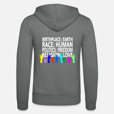 Religion Against racism (English shirt) - Unisex Zip Hoodie