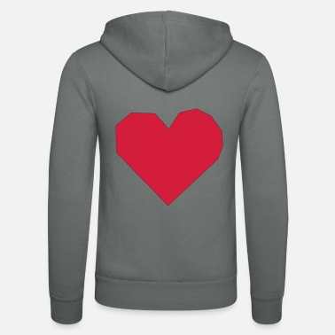 Heart with rough edges - Unisex Zip Hoodie