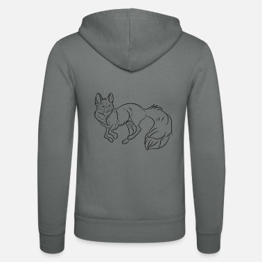 Animal Fox, Animal, Fox, animal - Unisex Zip Hoodie