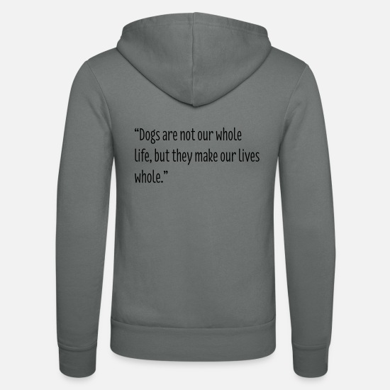 Dog Hoodies & Sweatshirts - Dog Lovers - Unisex Zip Hoodie grey