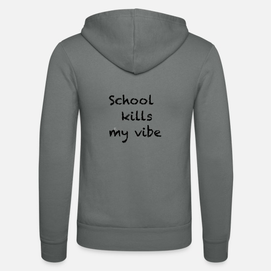 Love Hoodies & Sweatshirts - school - Unisex Zip Hoodie grey