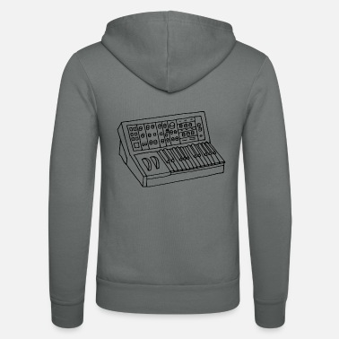 Synthesizer Synthesizer - Unisex Kapuzenjacke von Bella + Canvas