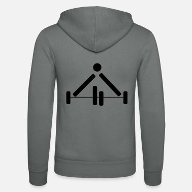 Pictograph Weightlifting Power Lifting Pictograph Dumbbell - Unisex Zip Hoodie