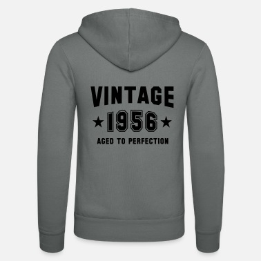 VINTAGE 1956 - Birthday - Aged To Perfection - Unisex Zip Hoodie