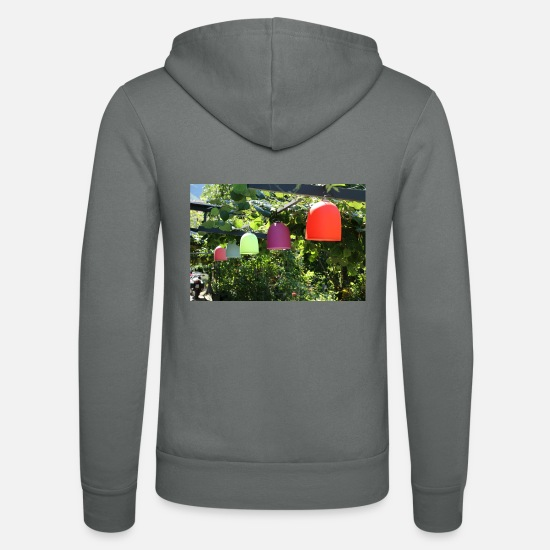 Bright Colours Hoodies & Sweatshirts - Colorful lamps many bright colors - Unisex Zip Hoodie grey