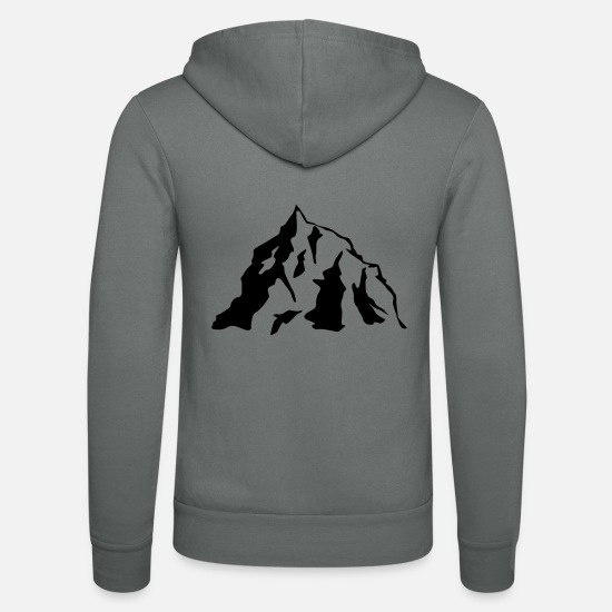 Nature Sweat-shirts - Mountain Icon - Veste à capuche unisexe gris