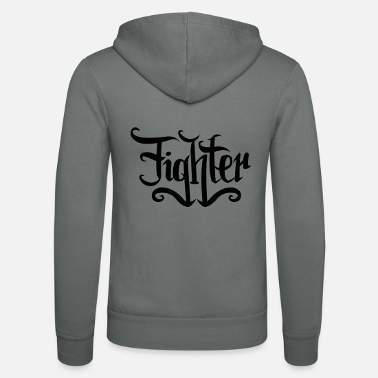 Fighter Hoodies & Sweatshirts - fighter - Unisex Zip Hoodie grey