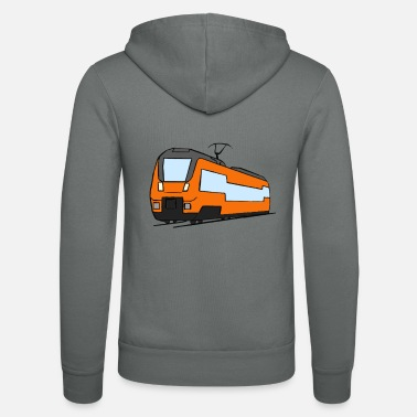 Regional Train Regional train train locomotive railroad model railway - Unisex Zip Hoodie
